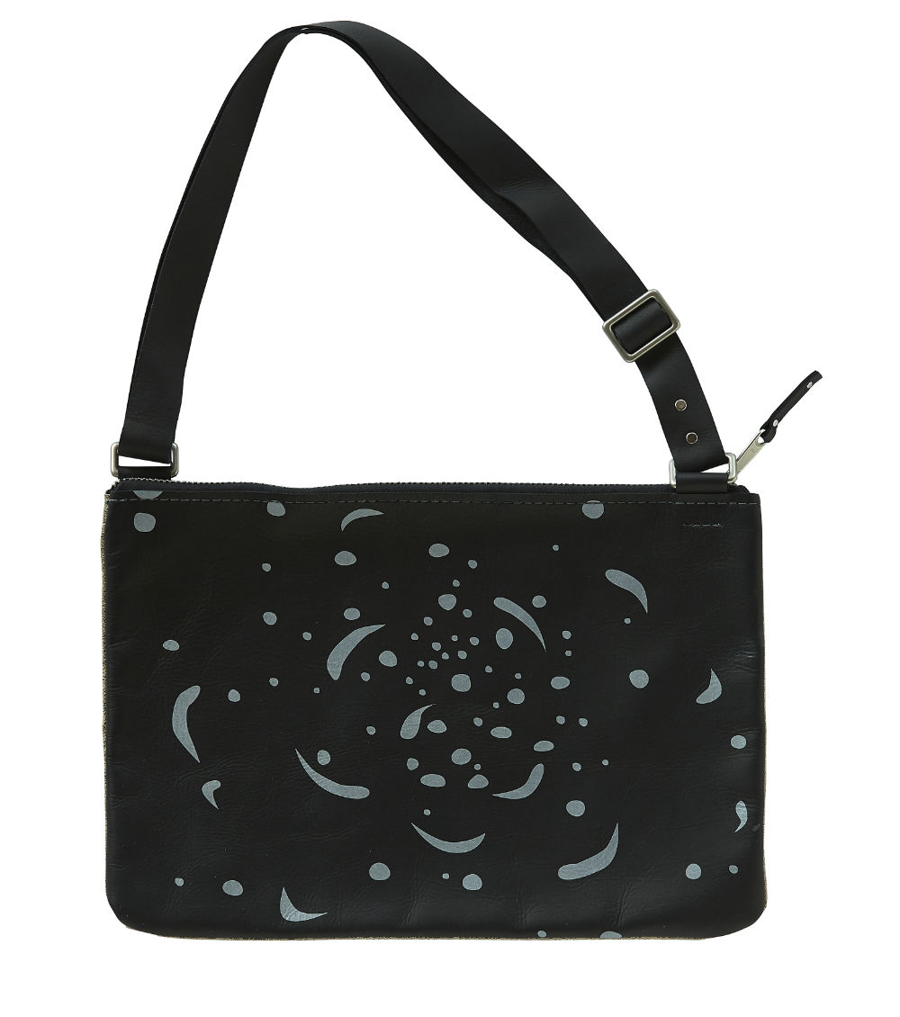 Cosmic Night Leather Shoulder Bag