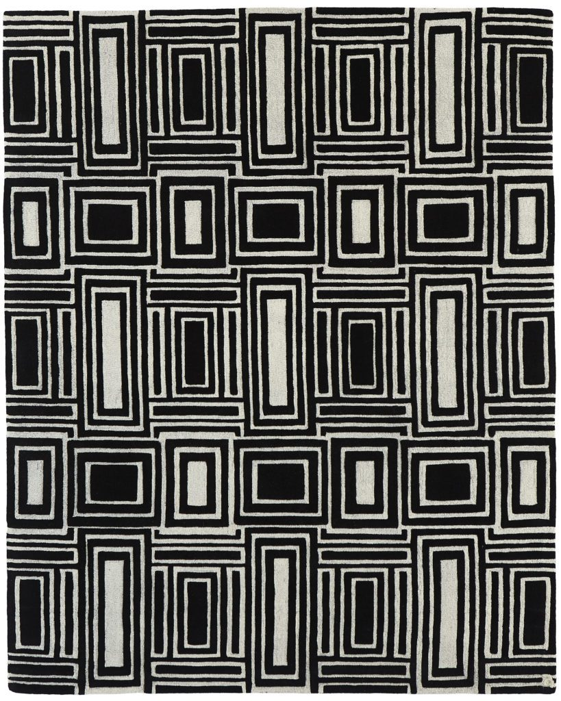 Eli black white handmade rugs carpet custom luxury unique handmade wool