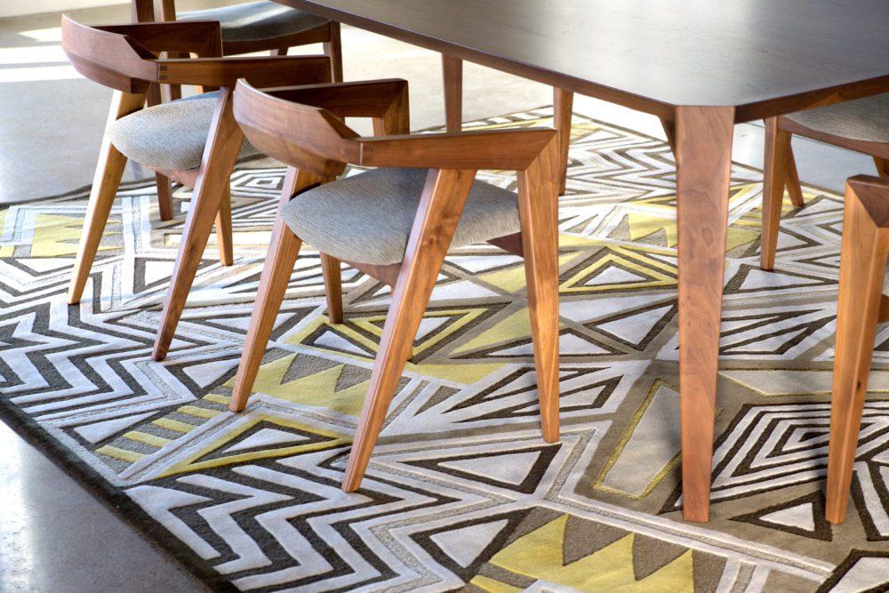 Origami Table V2 Galactic Handmade Rugs Yellow Geometric Lifestyle
