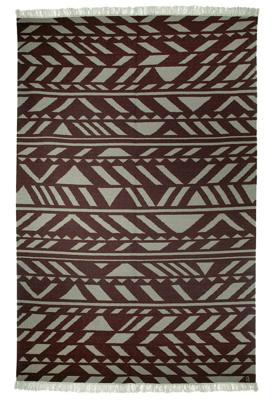 Zag Sterling brown grey handmade rugs modern nordic