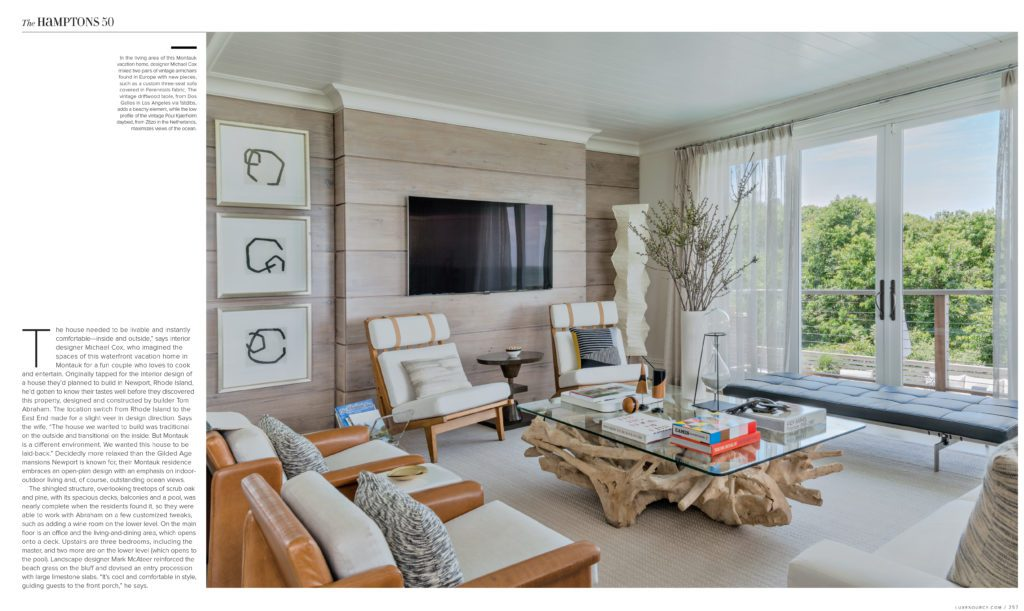 Luxe Magazine Foley Cox Interior Design Hamptons Home