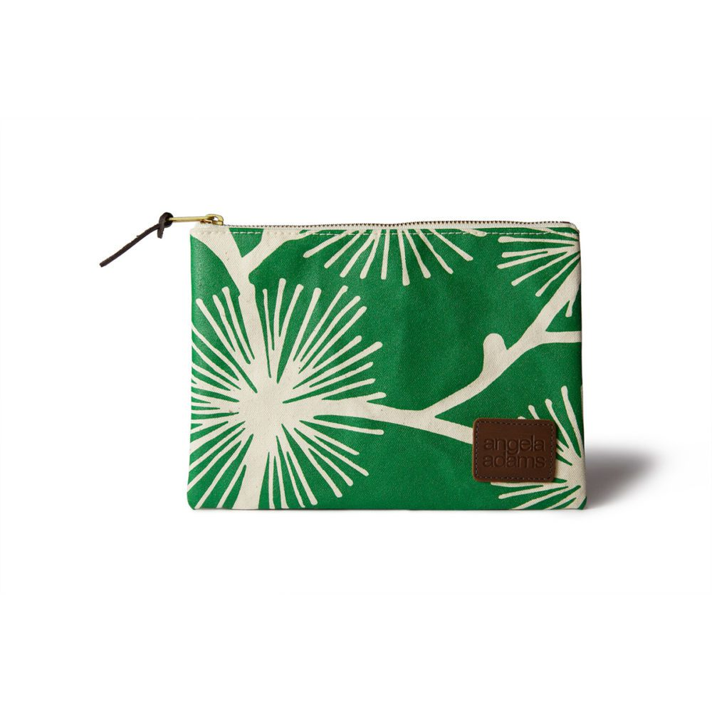 angela adams zip pouch accessory pine tree